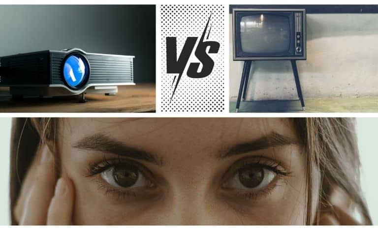 is projector better than tv for eyes