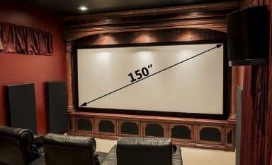 Home theater with the 150 inch screen