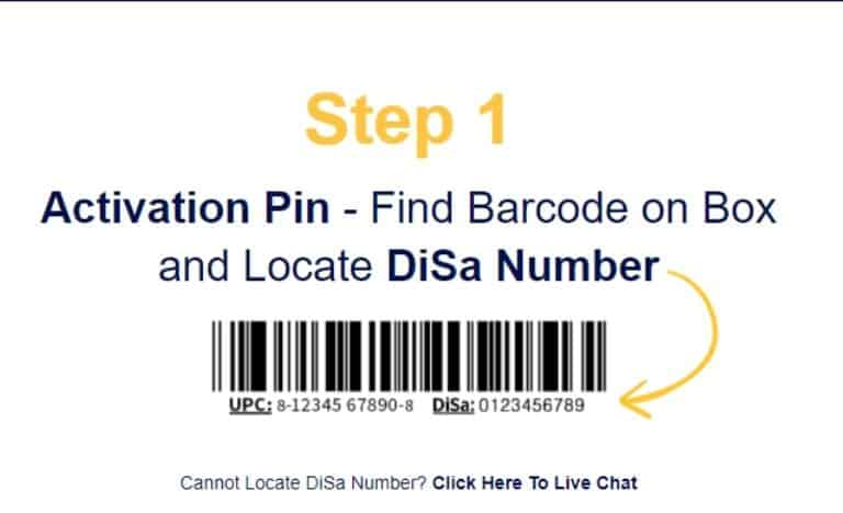 Instruction to get DiSa code